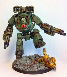 Legion Sons of Horus Mortis-Contemptor w/ duel ceres-pattern assault-cannons & cyclone missile-launcher.