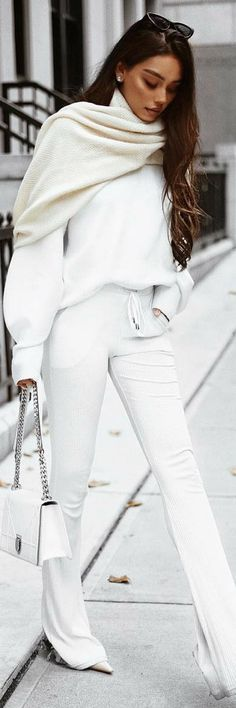 Jersey High Waist Pants - Fall Outfit Idea by Janice Joostema