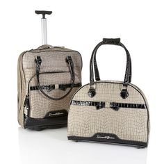 Samantha Brown 2-piece Printed Cabin Bag and Tote Set, want just because I love her :)