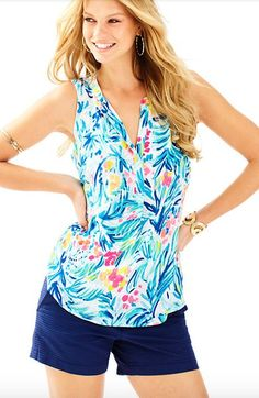 Lilly Pulitzer Sleeveless Stacey Top - Tippy Top