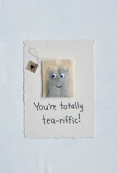 DIY Valentine's Day card. Fill it with their favourite tea!
