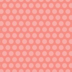 Adorn It Nested Owls Grid Dot Coral Polka Dots by AllegroFabrics, $10.00