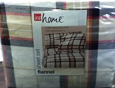 BRAND NEW JCP HOME FLANNEL FULL  SIZE SHEET SET COLOR PLAID  #jcphome