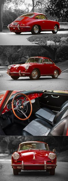 Quotes about Happiness : 1962 #Porsche 356 Carrera 2 / 310 produced / 130hp 2.0l F4 / red / Germany / 17-