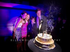 Bat Mitzvah candle blow out. Arena event space, NYC. By Ellen Wolff Photography.