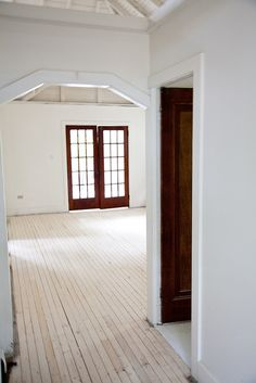 Stripped Floors With A Coat Of Thin White Milk Paint Cottage Painted 7 By