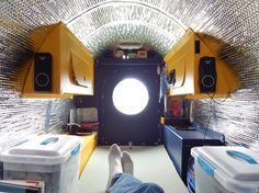 Another interior shot of my nomad bicycle camper.