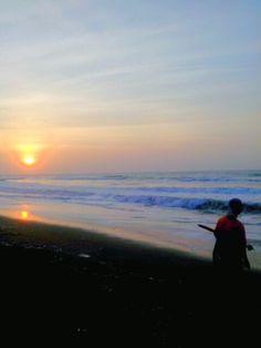Sunrise hindia ocean, Central Java, Indonesia