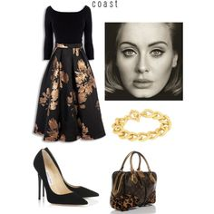 Hello - Adele by daniela997 on Polyvore featuring polyvore, fashion, style, Jimmy Choo, Adele Marie, women's clothing, women's fashion, women, female and woman