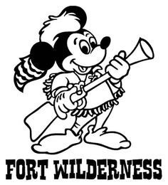 Fort Wilderness - Musket Mickey vinyl decal