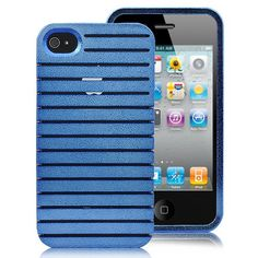 Detachable Brilliant Hard Case Cover For iPhone 4S - Blue