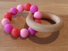 Wooden Silicone Teething Ring A beautiful natural & colourful teether that your baby will love! The wooden ring is made from natural Wooden Rings, Teething, Wax, Natural, Unique Jewelry, Handmade Gifts, Etsy, Beautiful, Kid Craft Gifts