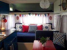 Vintage Camper Makeover - Travel Trailer Decorating Ideas - Good Housekeeping