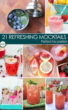 Whether you're planning a baby shower and trying to think up a signature drink that doesn't need any alcohol or you're looking for something that will brighten up your Memorial Day or 4th of July party keep reading because today we have rounded up 21 easy mocktail recipes and they are all so delicious that everyone at the party will want to try one!