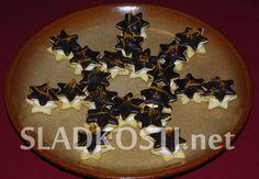 Mátové hvězdičky s čokoládovou polevou dia