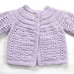 Chaqueta de ganchillo bebé capa capa del matinee por LurayKnitwear Crochet Baby Sweater Pattern, Crochet Baby Jacket, Crochet Baby Sweaters, Baby Sweater Patterns, Baby Girl Crochet, Crochet Blouse, Baby Blanket Crochet, Crochet For Kids, Baby Patterns