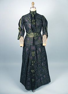House of Worth, Silk Afternoon Dress, Paris, 1890s.