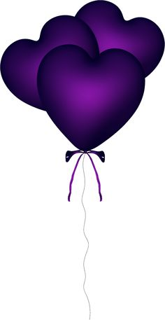 Purple Heart Balloons. with <3 from JDzigner. www.jdzigner.com