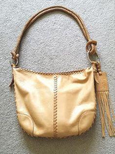 Ralph Lauren Native Fringe woven genuine leather boho 386$