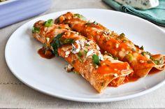 Buffalo Chicken Enchiladas recipe from How Sweet It Is