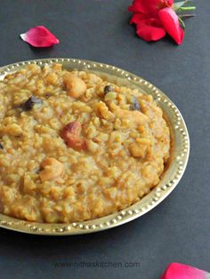 Breakfast Recipes, Dessert Recipes, Desserts, Sweet Pongal Recipe, Indian Food Recipes, Ethnic Recipes, Indian Breakfast, Desi Food, Indian Sweets