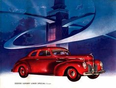 1939 Dodge Luxury Liner Brochure Illustrations by Arthur Radebaugh.