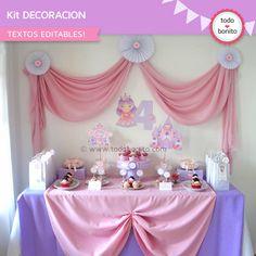 Mesa dulce cumpleaños de princesa