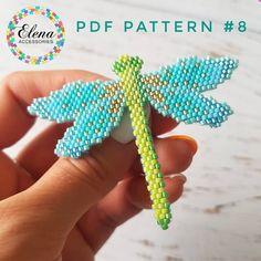 Peacock blue bird PDF brick stitch pattern for miyuki delica & toho tresure seed bead animal pattern Peyote Patterns, Beading Patterns, Embroidery Patterns, Stitch Patterns, Mosaic Patterns, Painting Patterns, Crochet Patterns, Art Patterns, Loom Patterns