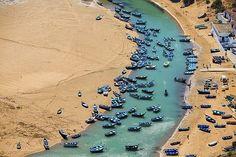 Maroc, Moulay Bousselham, Lagune de Merja Zerga (vue aérienne) Date prise de vue : 13/07/2016 Crédit : Hope Production / hemis.fr