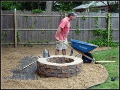 pea gravel fire pit area www.homeroad.net