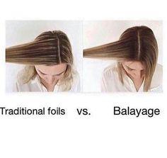 Traditional foil highlights vs balayage