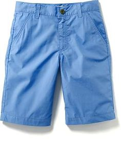 Poplin Flat Front Shorts for Boys | Old Navy