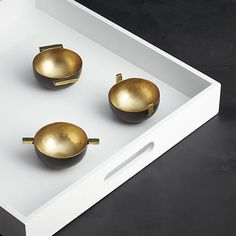 set of 3 brass bowls