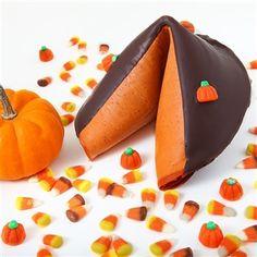 Pumpkin flavored GIANT fortune cookie...YUMPKIN!!