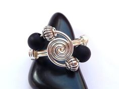 Ring ♥ 4 sisters ♥ GRÜN Draht Schmuck versilbert | Diy design and ...