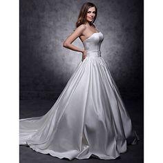 Ball+Gown+Strapless+Chapel+Train+Satin+Wedding+Dress++-+GBP+£+117.53