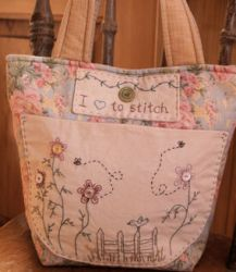Hand embroidered sewing bag