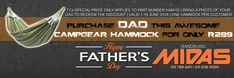 Spoil dad this Father's Day to the gift of relaxation with an EPIC Hammock for only R289 only with us at Randburg Midas!