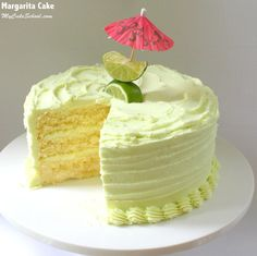 Amazing Margarita Cake Recipe with Tequila Lime Buttercream! You'll Love this festive and delicious scratch cake recipe! Ice Cream Desserts, Köstliche Desserts, Delicious Desserts, Margarita Cake, Margarita Recipes, Baking Recipes, Cake Recipes, Dessert Recipes, Summer Cakes