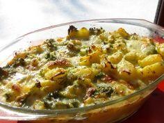 Zapečené brambory s brokolicí a mozarellou Zkuste toto snadné a opravdu velice chutné jídlo. 8 středních brambor 1 brokolici 2 balíčky mozarelly zakysanou smetanu (lehce naředěnou) 1 vejce sůl, kmín Brambory uvařte s kmínem a soli do poloměkka, 10 min. Brokolici na růžičky a udělejte nad párou (max 10 min). Mozarellu nakrájejte na kousky. Smetanu  rozřeďte, do ní 1vejce. Brambory, brokolici a mozarellu smíchejte a směs vysypte do pekáčku, zalijte připravenou směsí ze smetany, 180° 30 min Slovak Recipes, A Food, Food And Drink, Vegetarian Recipes, Cooking Recipes, No Salt Recipes, Main Meals, Cheeseburger Chowder, Kids Meals