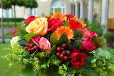 A garden bouquet in the cloistered courtyard