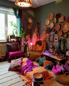 Bohemian Home Decor and Interior Design Ideas: Bohemian interior designs and home decor ideas are all interesting and a trending mode to change the simple beauty of the dreamland into the most exciting one. House Styles, Room Decor, Decor, Bohemian Style Decor, Bohemian Interior, Meditation Room, Bedroom Design, Bohemian Bedroom Design, Home Decor