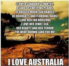 I love a sunburnt country....