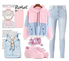 """Romwe"" by hana-321 ❤ liked on Polyvore featuring Frame, Kenzo and Doughnut"