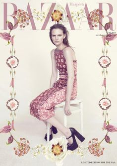 Harper's Bazaar UK V & A Edition, May 2013 cover | Sophie Hirschfelder by Elena Rendina