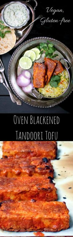 Oven Blackened Tandoori Tofu #vegan #tandoori #indian #tofu - HolyCowVegan.net