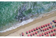st. tropez red umbrellas
