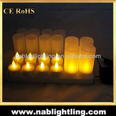 Rechargeable led flameless candle