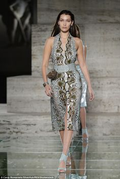 Sssexy! Bella Hadid, 20, continued her fierce display as she strutted down the runway for ...