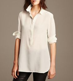 Layer one of these easy, breezy blouses under your wool sweater.